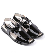 Load image into Gallery viewer, Peshawari Chappal black for ladies