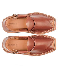 Load image into Gallery viewer, men brown kaptaan Peshawari Chappal