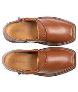 brown traditional Peshawari Chappal specially design for men