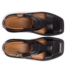 Load image into Gallery viewer, Black Panjedar Chappal