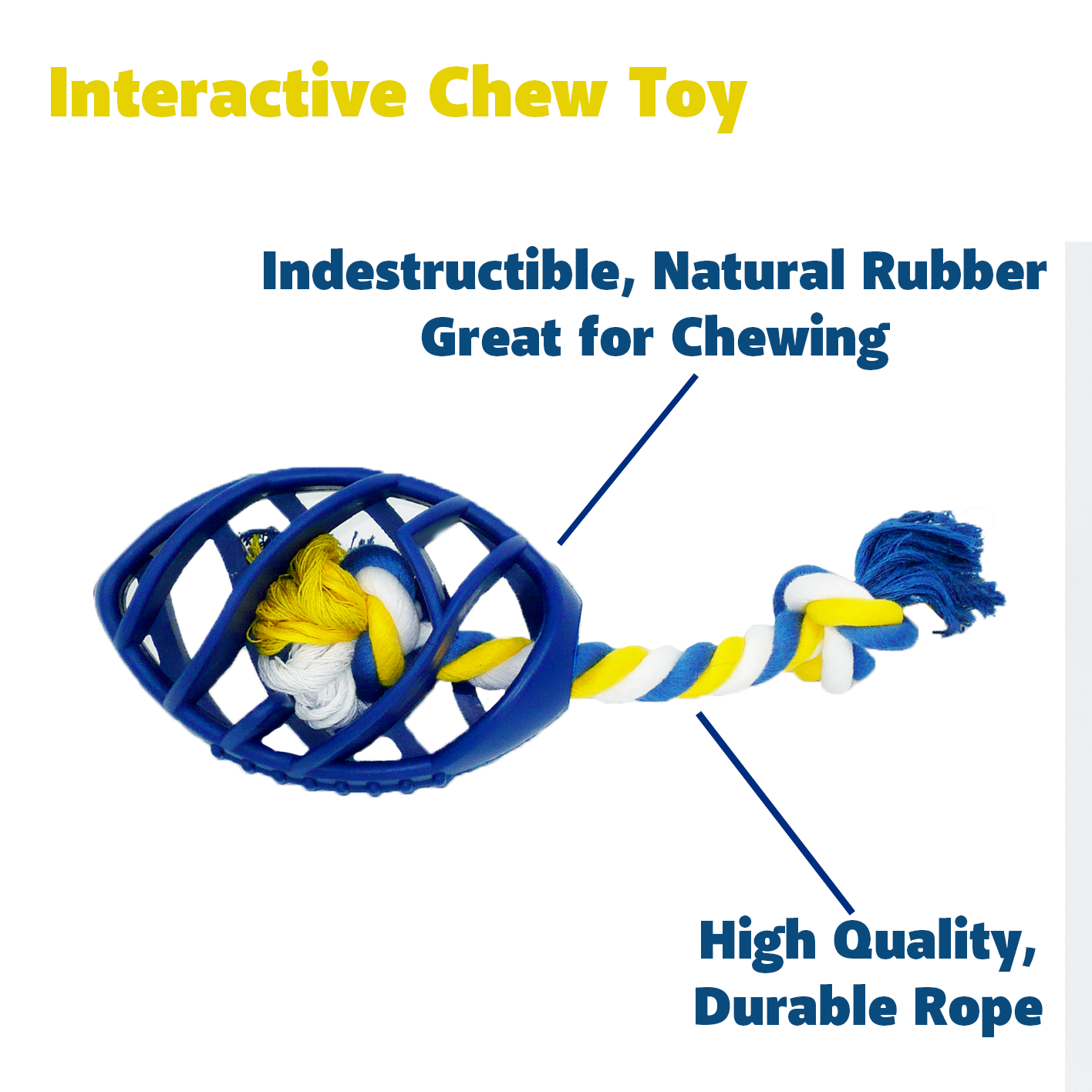 Interactive Rubber Football with High Quality Rope
