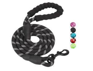 Open image in slideshow, 5 FT Leash With Comfortable Padded Handle and Reflective Threads