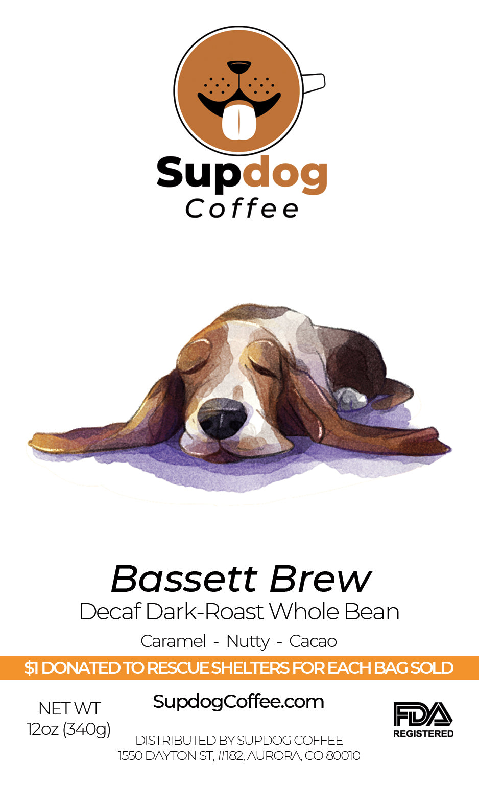 Bassett Brew - South American Dark-Roast, Decaf