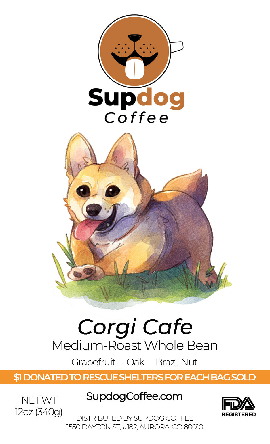 Corgi Café - Colombian Medium-Roast