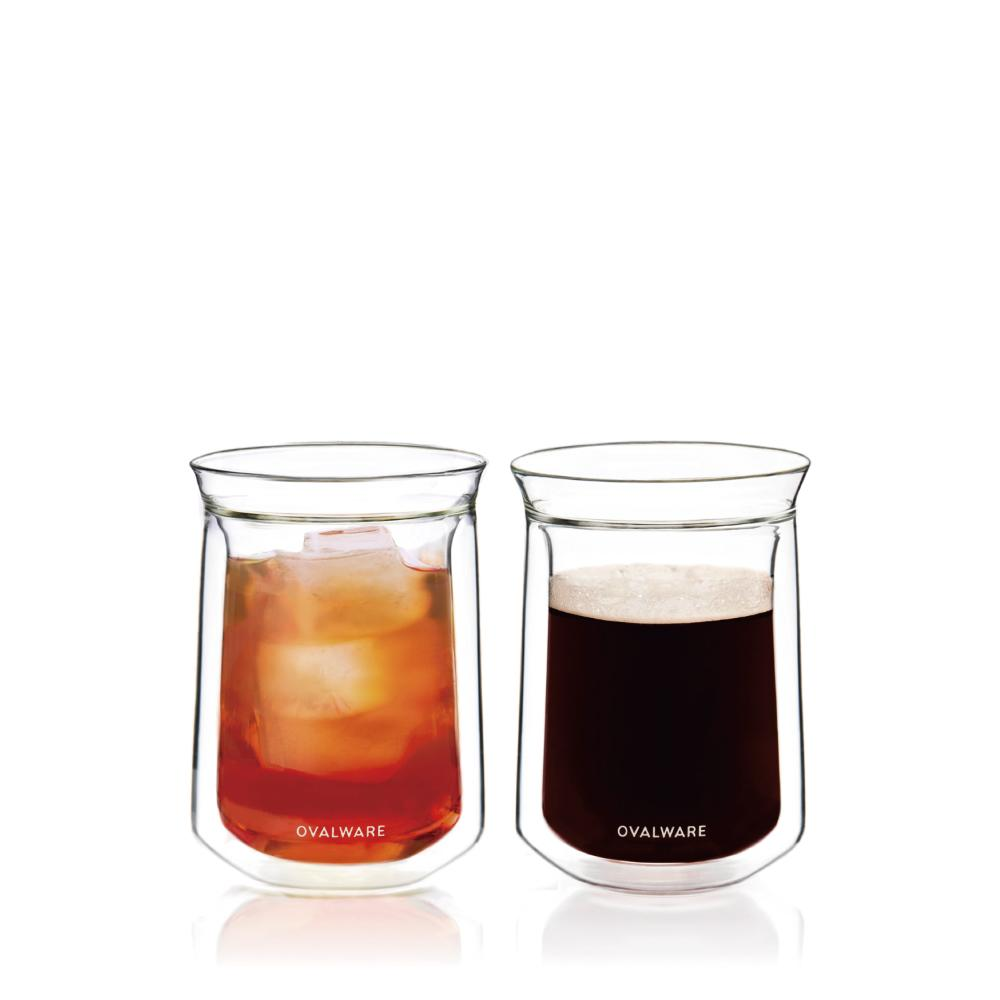 OVALWARE Double Wall Tasting Glass Cup (2/Set)