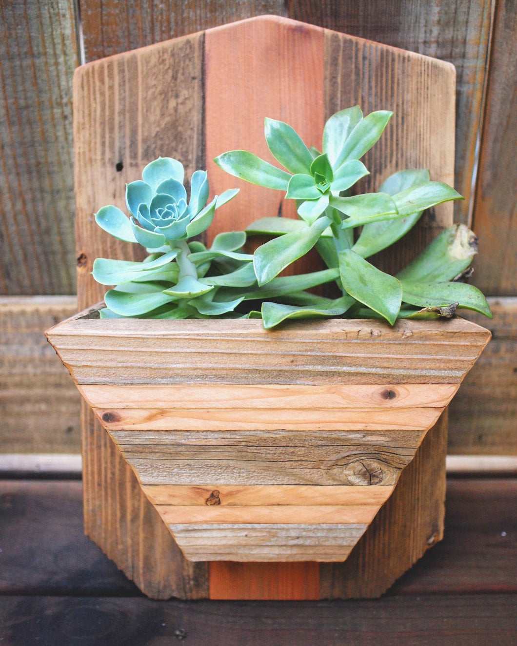 Reclaimed Wood Hanging planter
