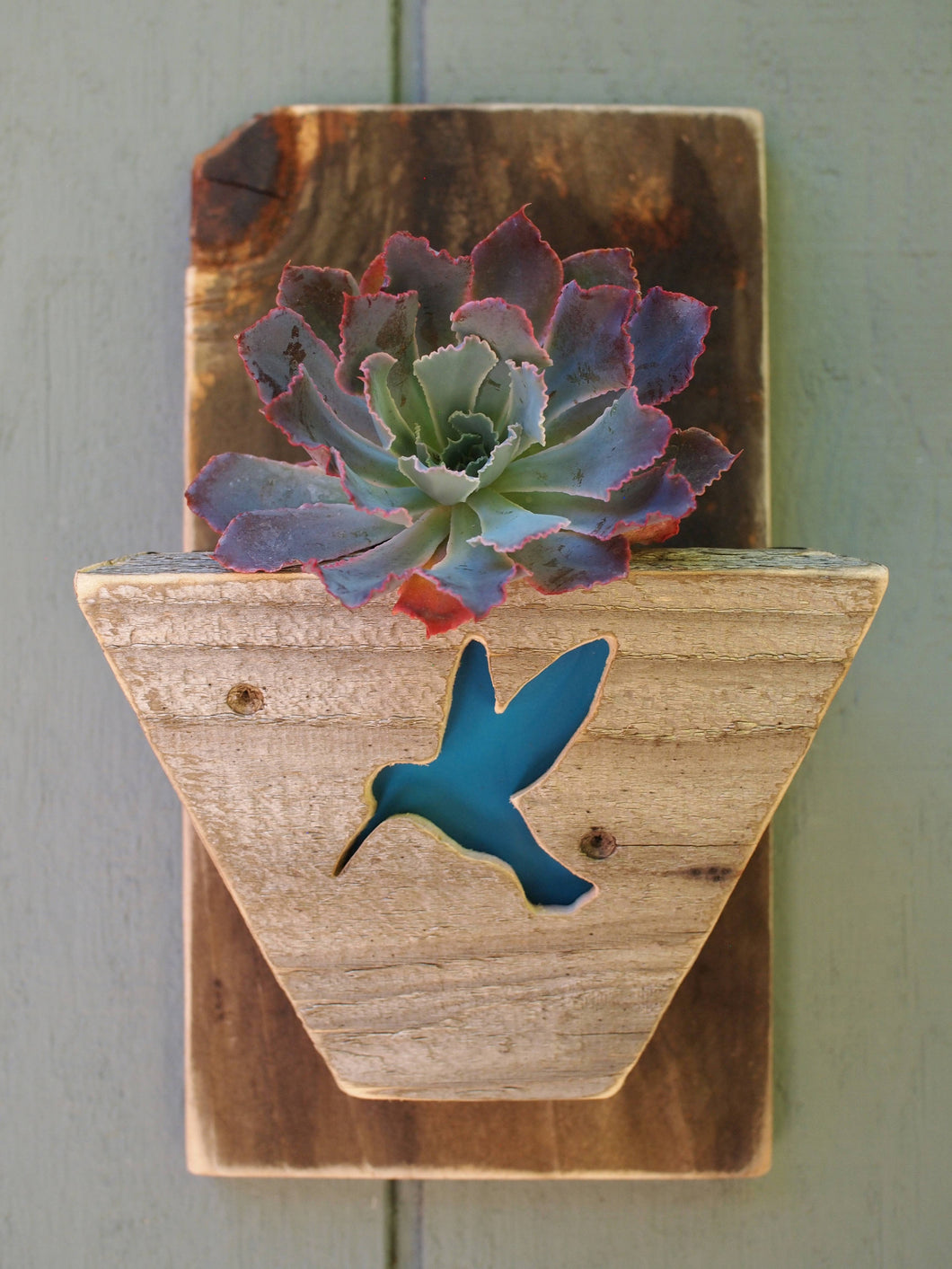 Hummingbird Reclaimed Wood Planter