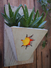 Load image into Gallery viewer, Sunshine wall art Reclaimed Wood Planter