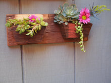 Load image into Gallery viewer, Rustic wall hanging planter