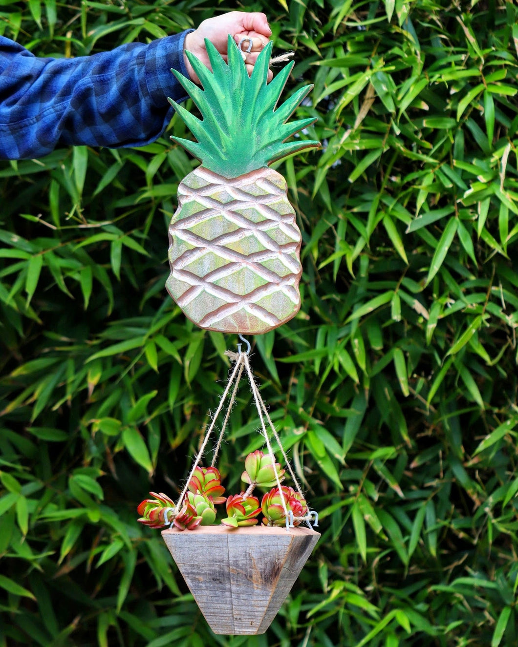 Pineapple hanging planter