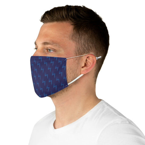 Blue Lightning Face Mask