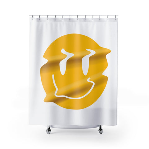 Distorted Smiley Shower Curtain