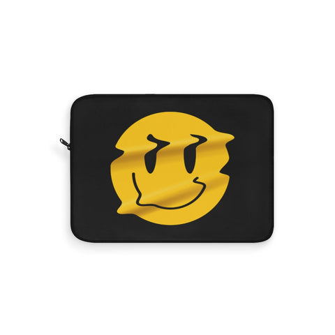 Distorted Smiley Laptop Sleeve