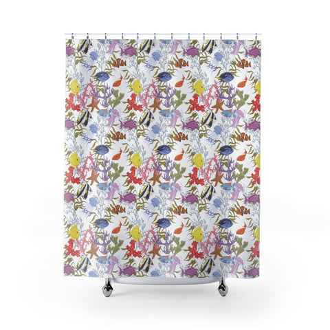 Tropical Sea Life Shower Curtain