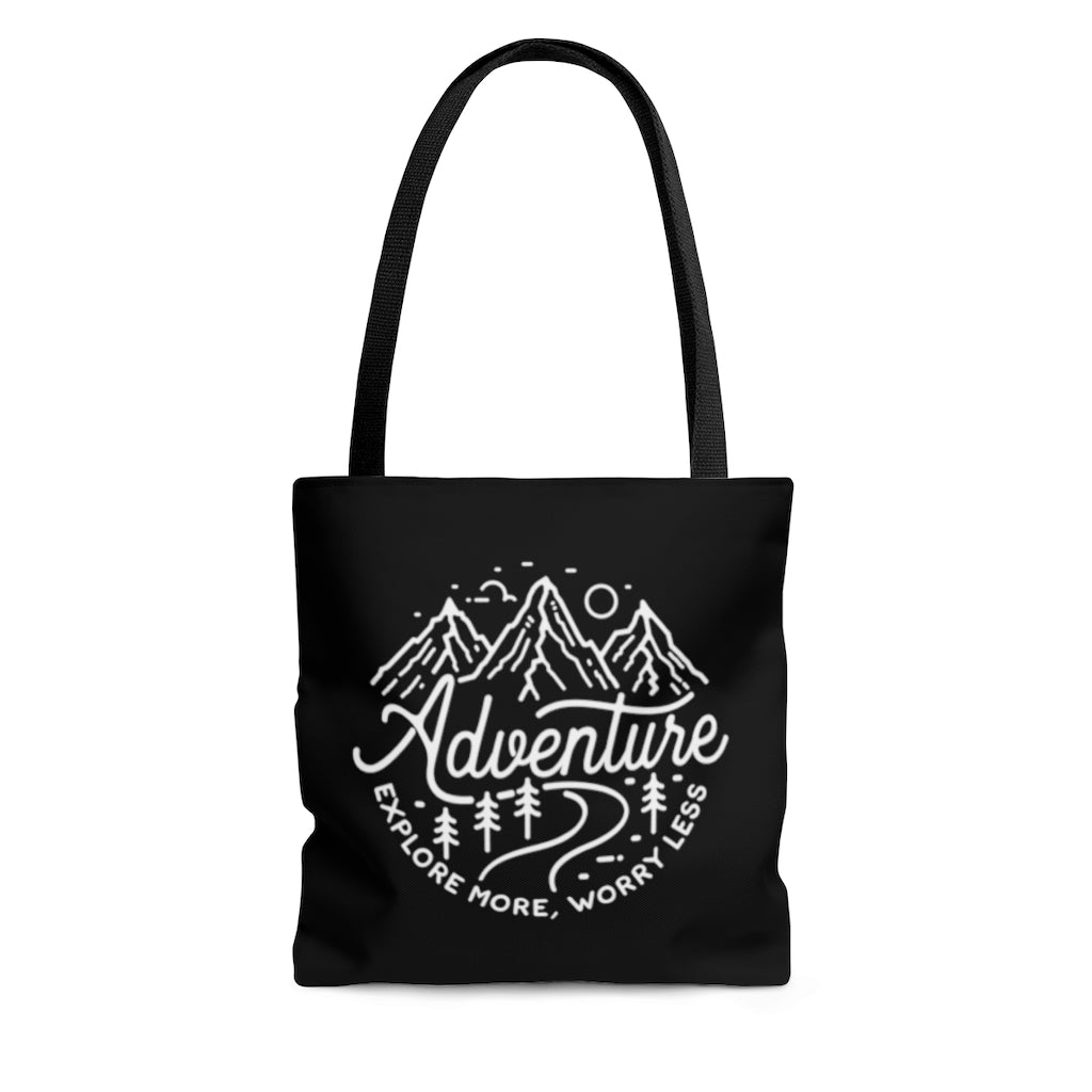Adventure Explore More Worry Less Tote Bag
