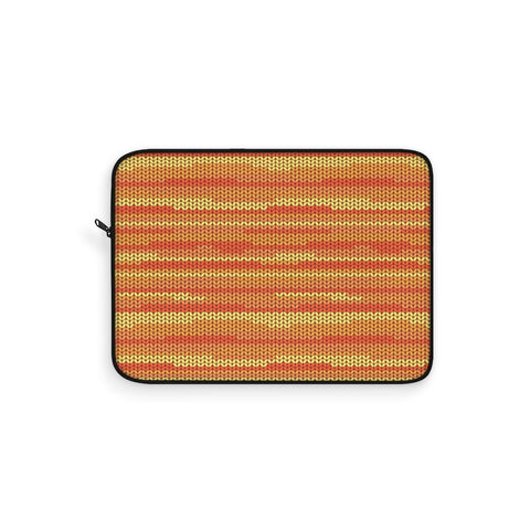 Knit Orange Laptop Sleeve