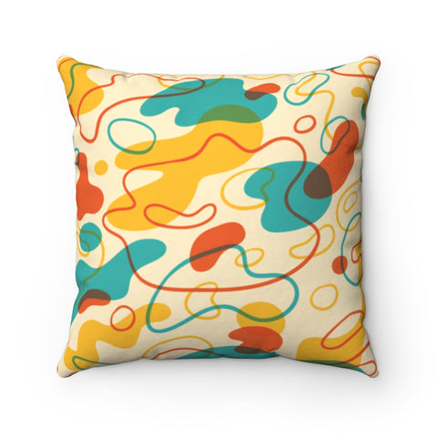 Abstract Amoeba Throw Pillow