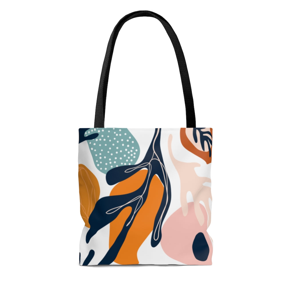 Abstract Floral Tote Bag