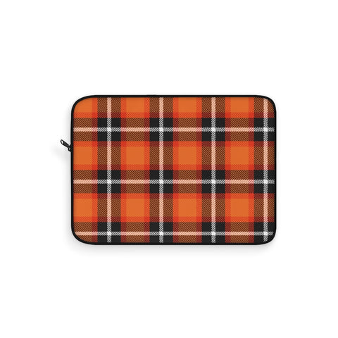 Tartan Orange Laptop Sleeve