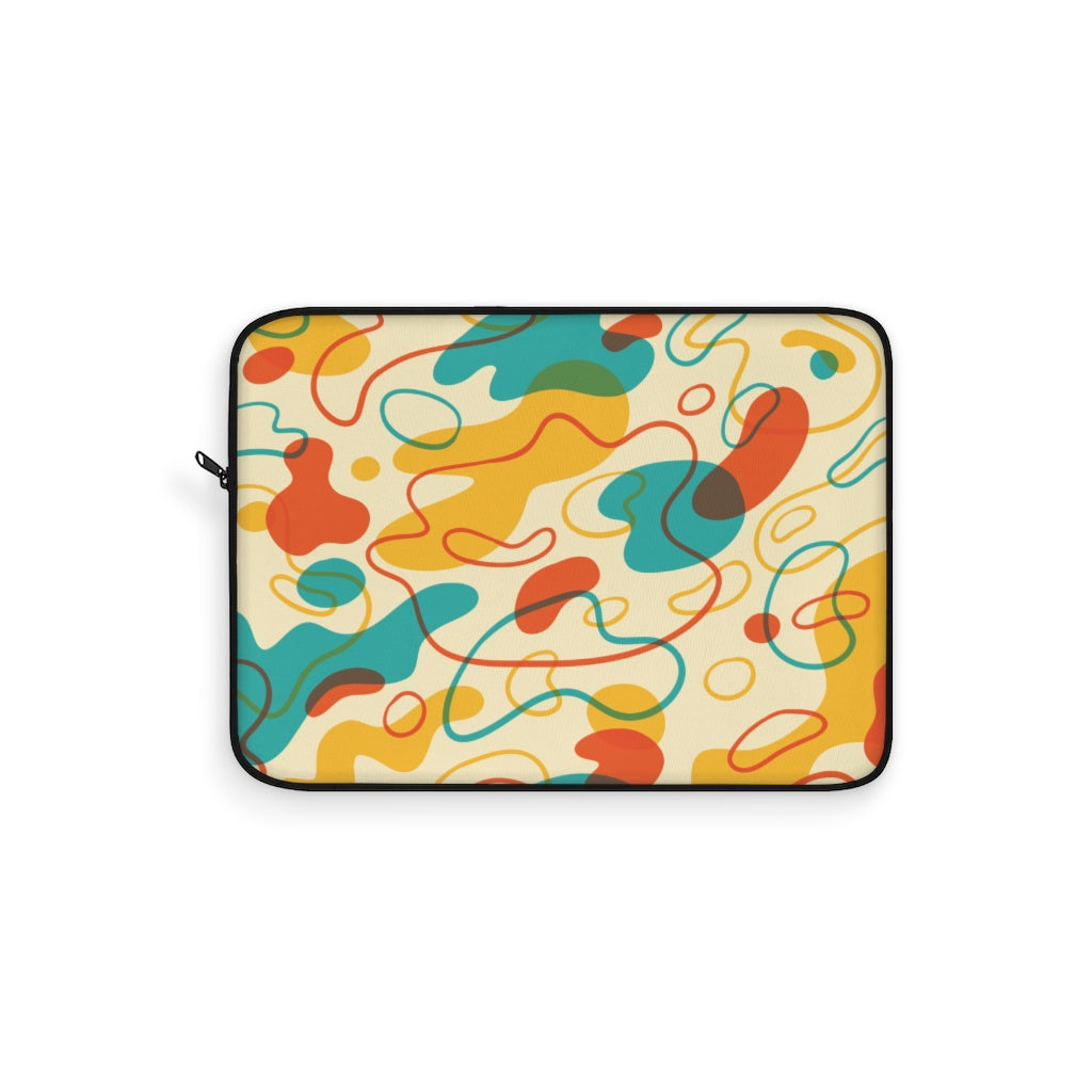 Abstract Colorful Amoeba Laptop Sleeve