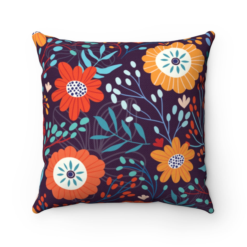 Floral Pastel Throw Pillow
