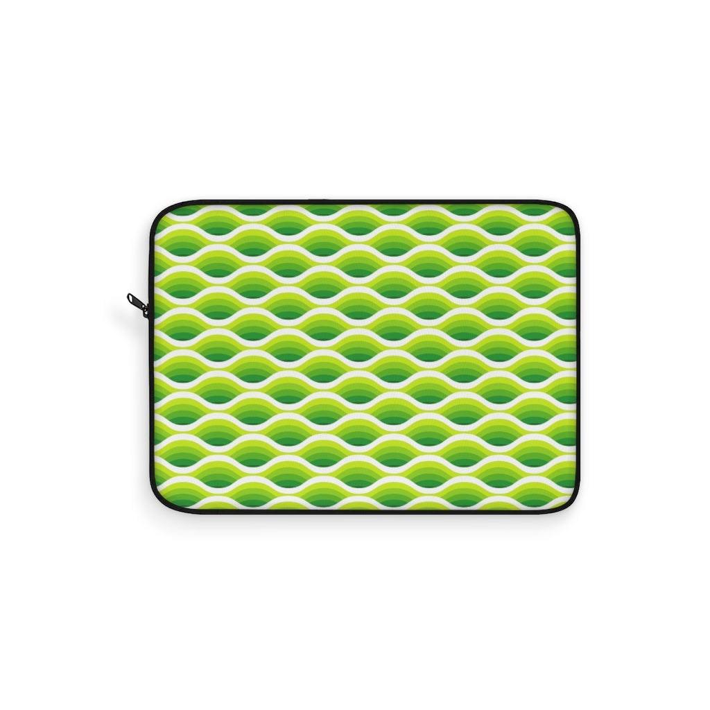 Electric Wave Lime Laptop Sleeve
