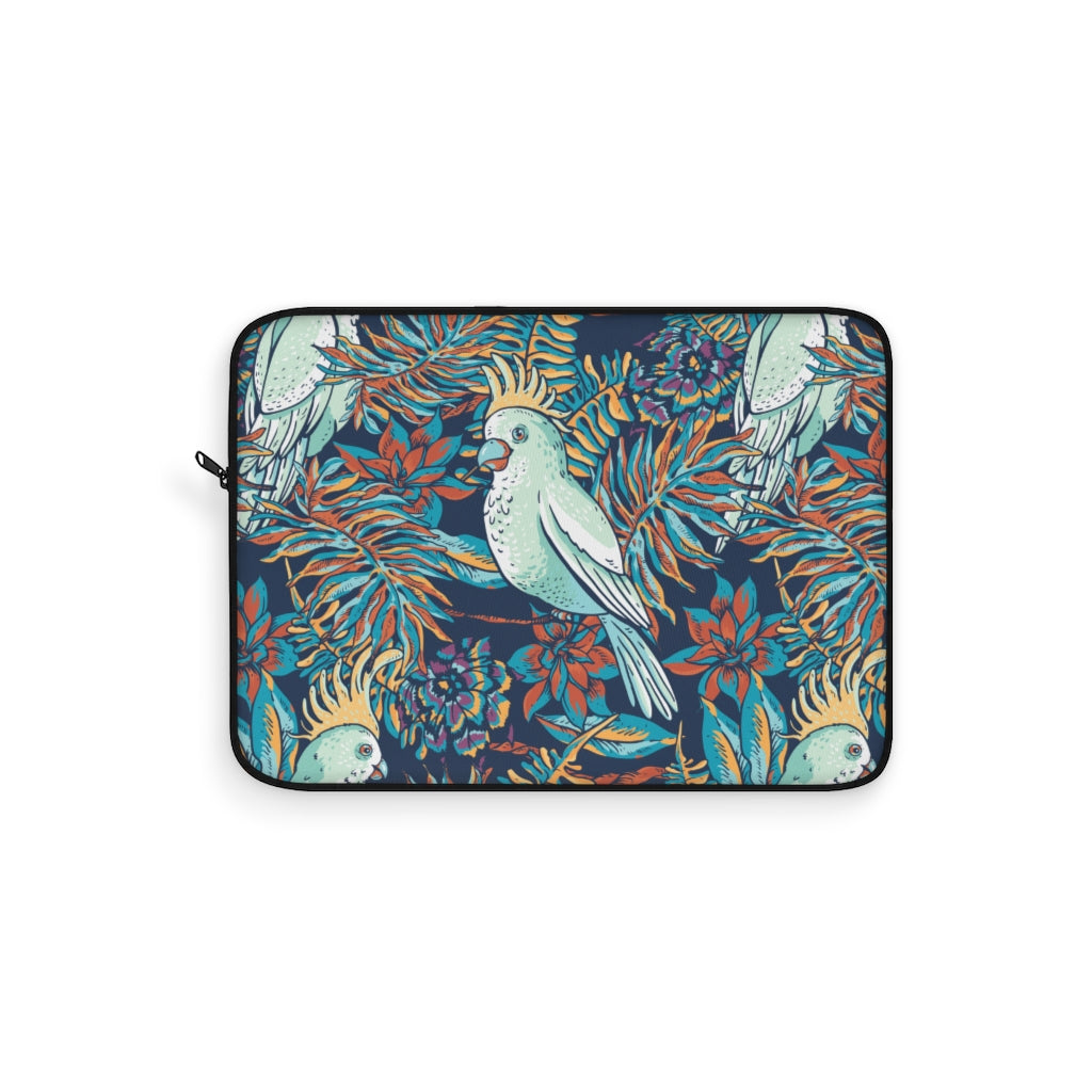 White Parrot Laptop Sleeve