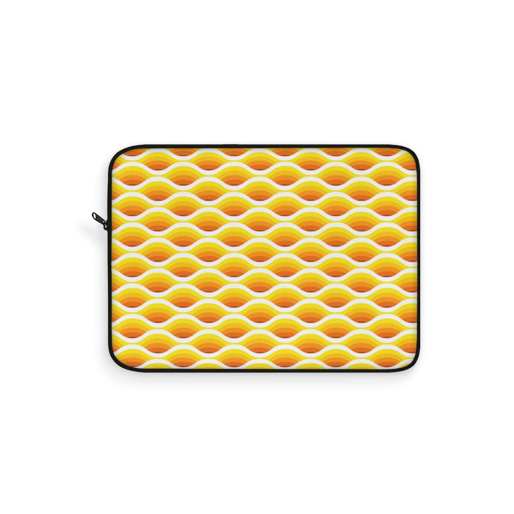 Electric Wave Gold Laptop Sleeve