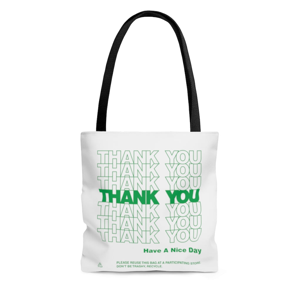 Thank You Thank You Recycle Green Tote Bag