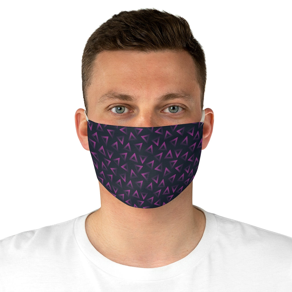 Purple Triangle Face Mask