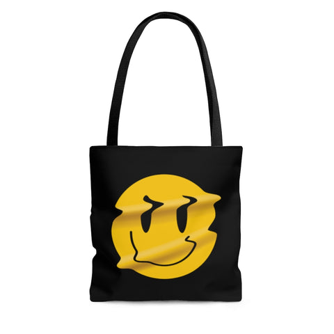 Distorted Smiley Tote Bag