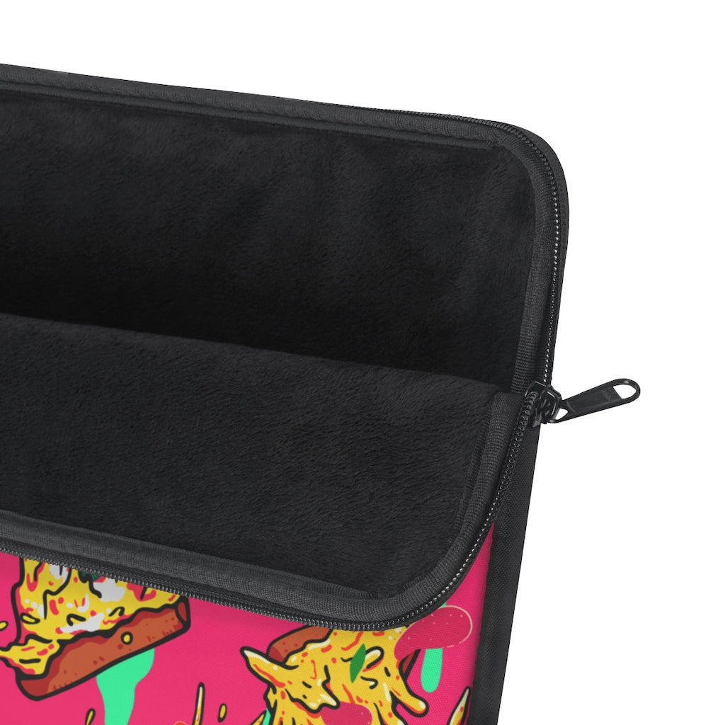 Fuchsia Pizza Laptop Sleeve