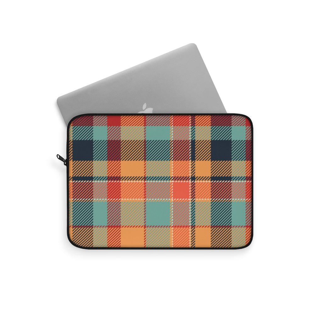Tartan Peach Laptop Sleeve