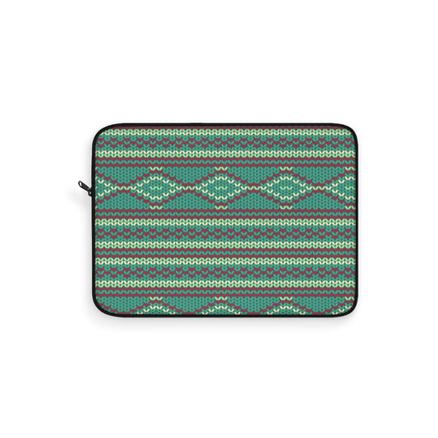 Knit Green Laptop Sleeve