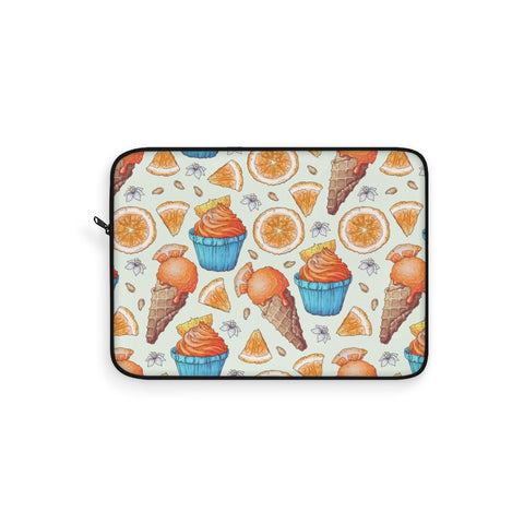 Orange Cupcake Ice Cream Laptop Sleeve