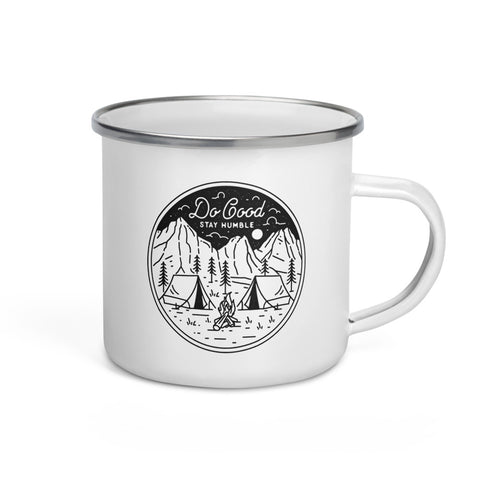 Do Good Stay Humble Enamel Mug
