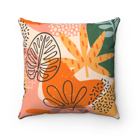 Floral Pastel Merigold Throw Pillow