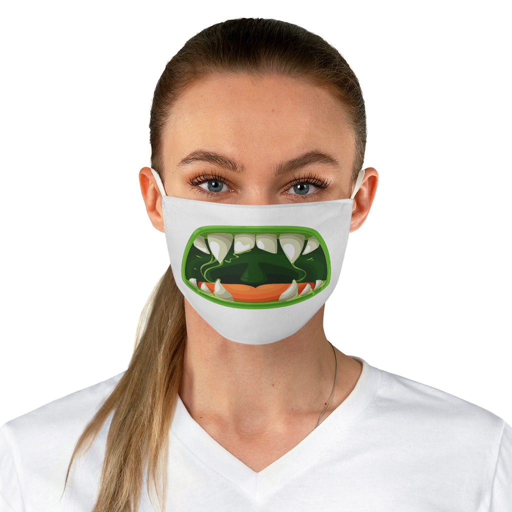 Scary Green Fang Face Mask