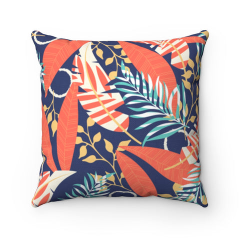 Floral Pastel Coral Throw Pillow