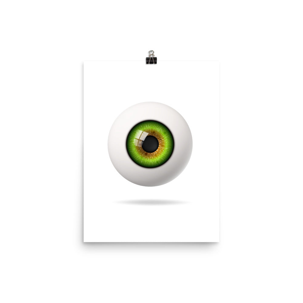 Realistic Green Eyeball Poster