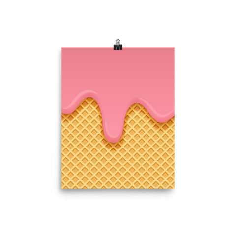 Pink Cream Waffle Poster