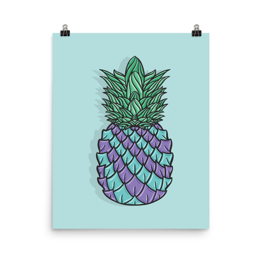 Pineapple Blue Poster