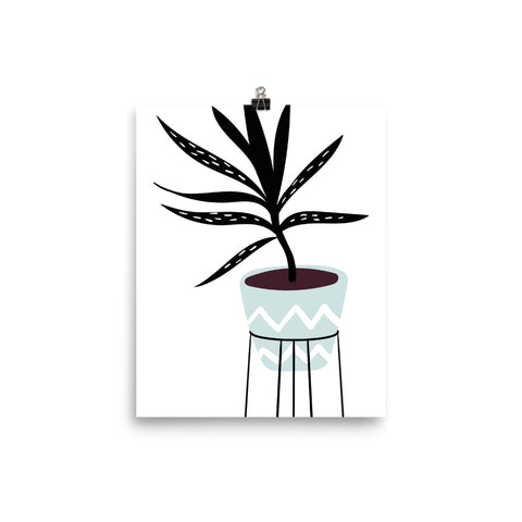 Modern House Plant Poster