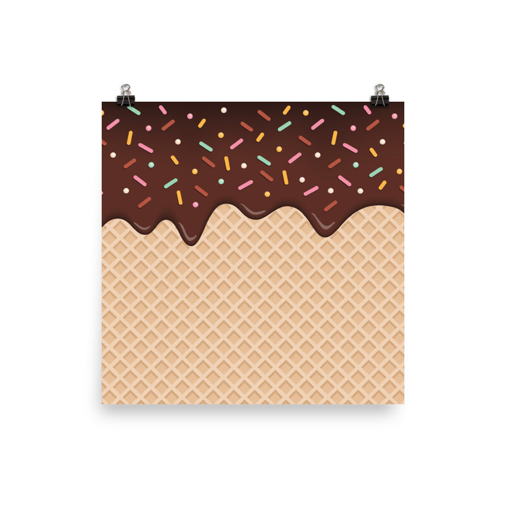 Chocolate Waffle with Sprinkles Poster