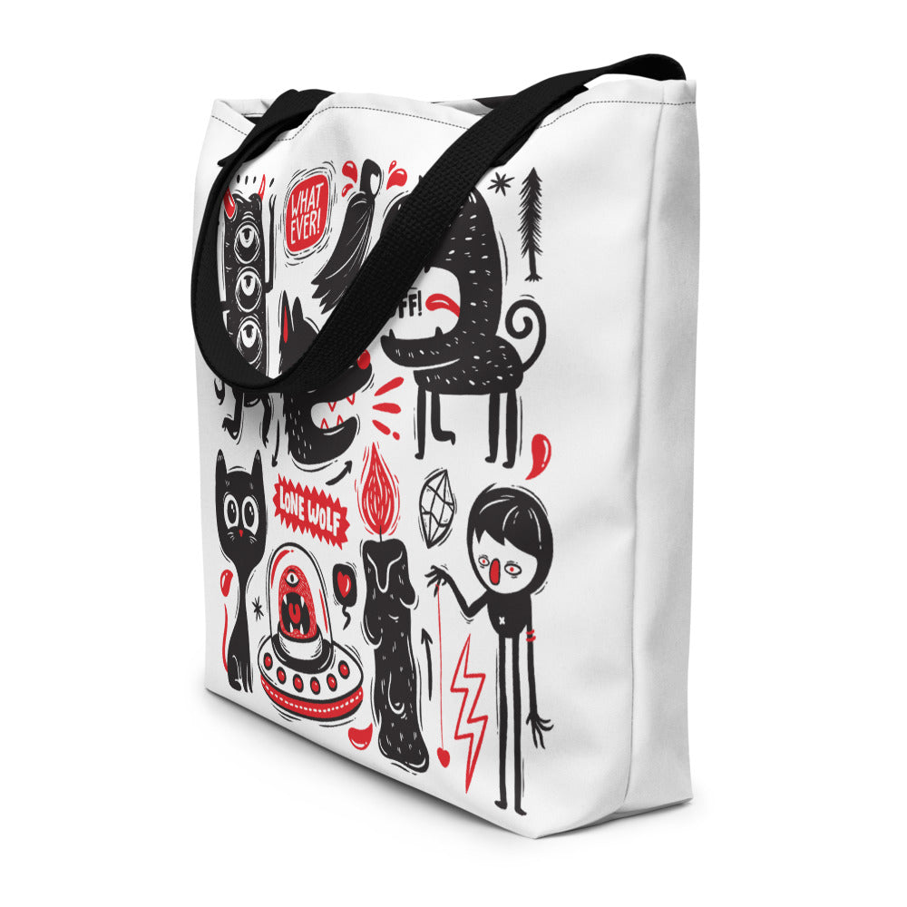 Monster Madness (Yeay Lone Wolf) Tote Bag