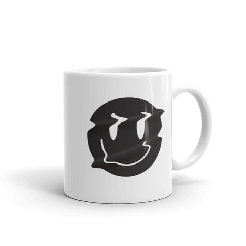 Distorted Smiley (Black) Mug