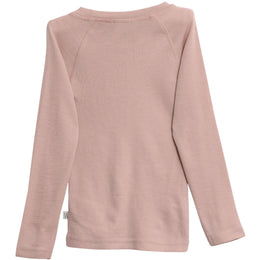 Wheat - Wool T-Shirt LS, rose powder