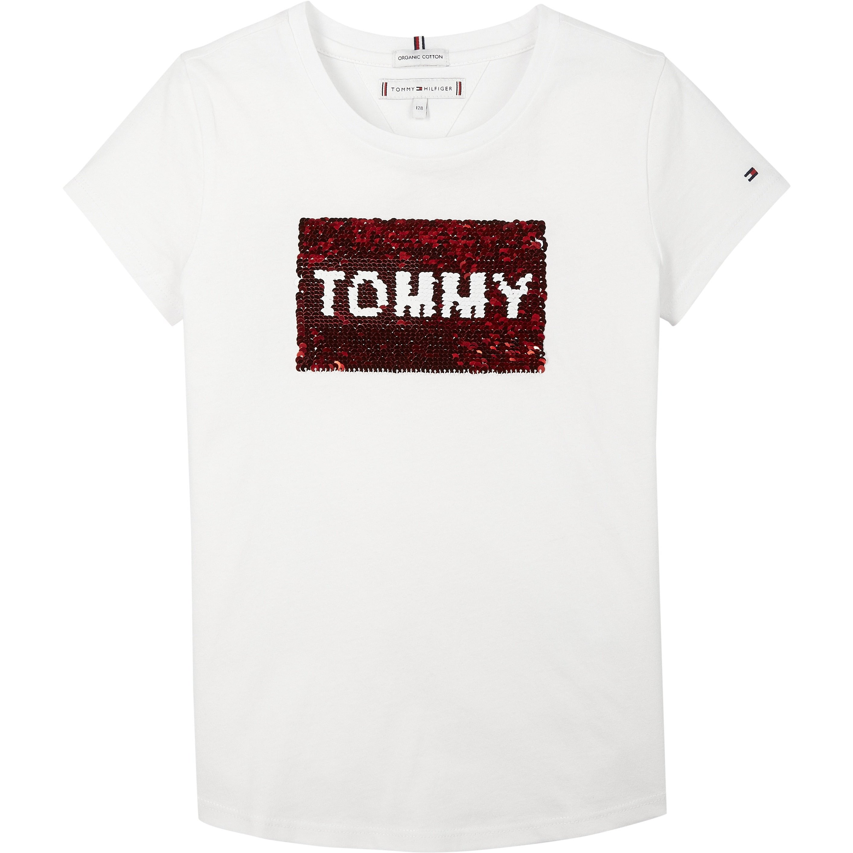 Tommy Hilfiger - Flag flip sequins tee s/s white - 3