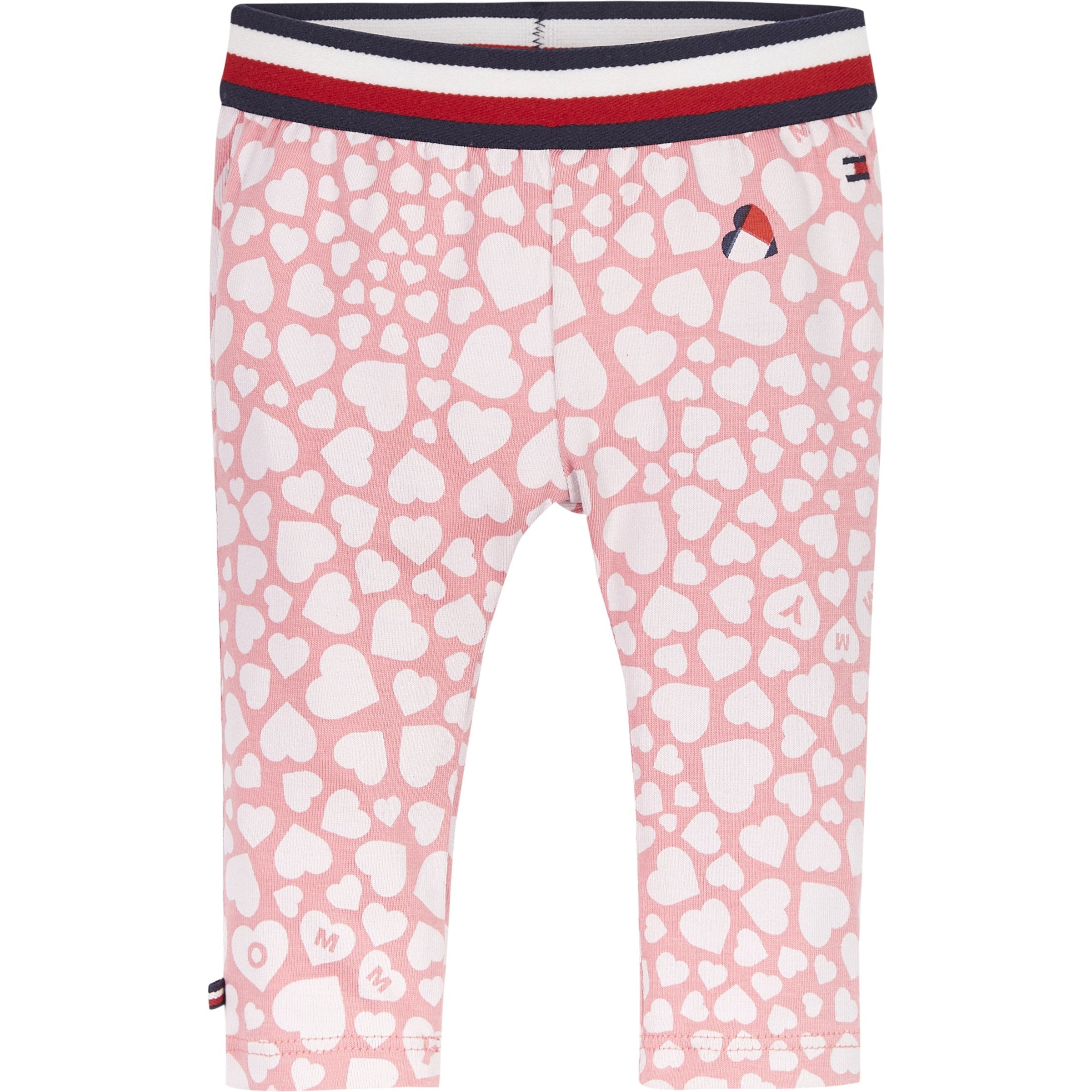 Tommy Hilfiger - Baby girl printed leggings rosey pink heart - 74