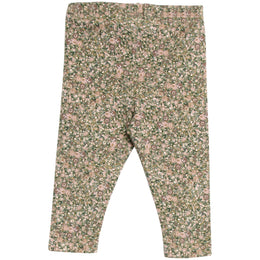 Wheat - Jersey Leggings, green flowers
